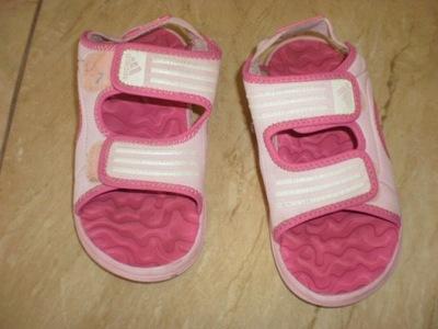 Sandałki, buty buciki letnie Adidas rozm 33 różowe