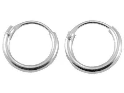 Kolczyki koła kółka kółeczka 8 mm srebro 0,925