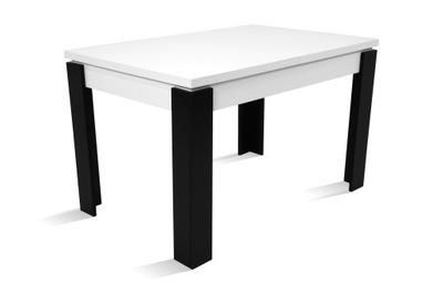 Rozkład. stół C-4 biały nogi czarne 80x120/160