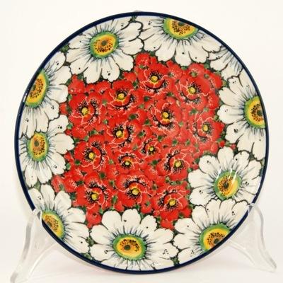 Тарелка цветы  ??????????  ⌀21 , 5см керамика