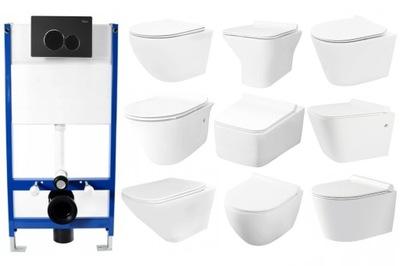 Rea set Podomietkový rám + WC bez okraja