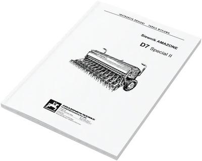 Amazone D7 Special II tabela tabele wysiewu
