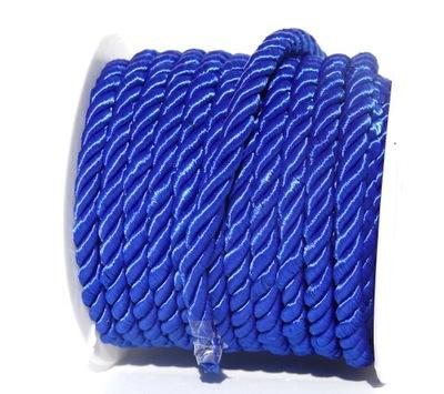 sznur sznurek skręcany 10mm skręcony 1m modrak