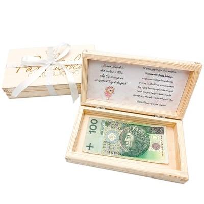 Pudełko na pieniądze Pamiątka Chrztu Świętego GIFT