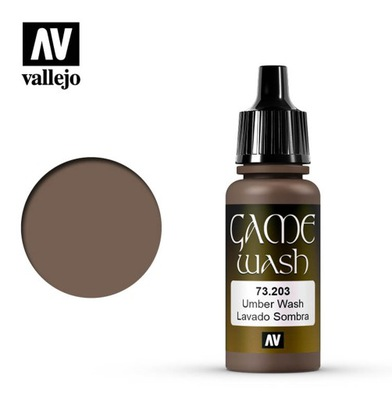 Vallejo Game Color 73.203 Umber Wash 17 ml NEW