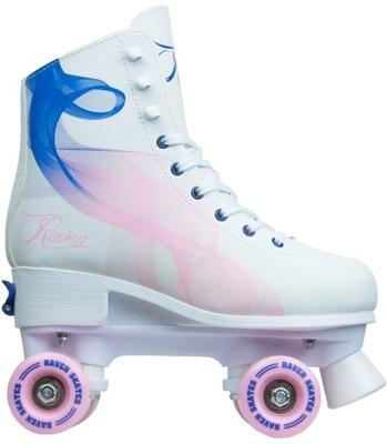 Nastaviteľné kolieskové korčule RAVEN Serena Navy / Pink 31-34