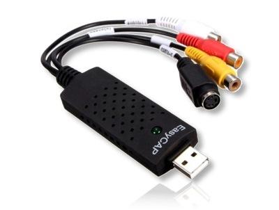 Zgrywanie kaset VHS grabber CVBS SVideo USB stream