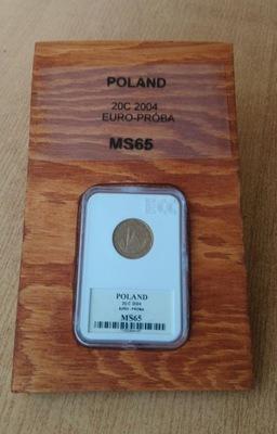 RUSSIA 20c2004 Евро попытка MS65