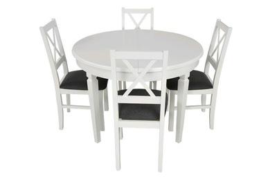 классический Белый комплект круглый стол 4 стульями