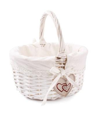 Белый КОРЗИНА Корзина с подарками благодарность свадьба