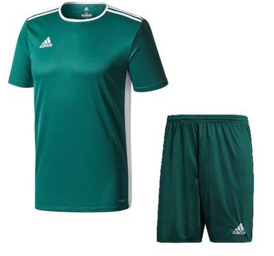 Adidas komplet piłkarski KOSZULKA + SPODENKI r. L