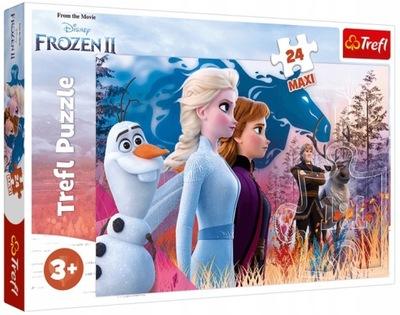 Trefl Puzzle 24 Maxi Magiczna wyprawa Frozen 2