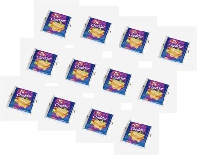 Ser Topiony plastry cheddar 12 szt. po 130 g