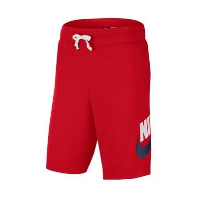Spodenki NIKE NSW French Terry czerwone MEN - XL
