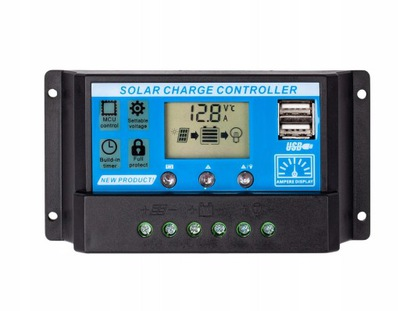 Solarny regulator ładowania 20A LCD USB