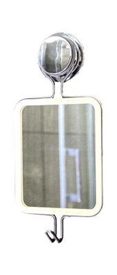 LUSTERKO lustro z hakiem przyssawka chrom 12x24