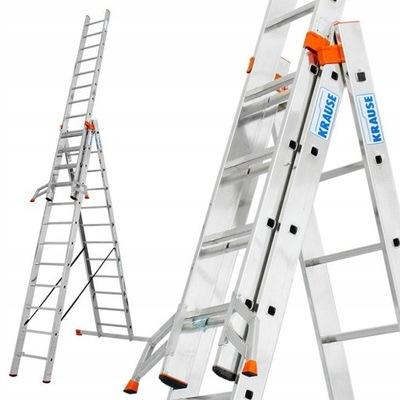 Лестница алюминиевая 3x12 Краузе MONTO 9 ,30м 129703