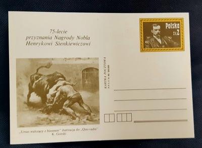 Открытка 75 L . Нобелевской Премии Х. Сенкевич