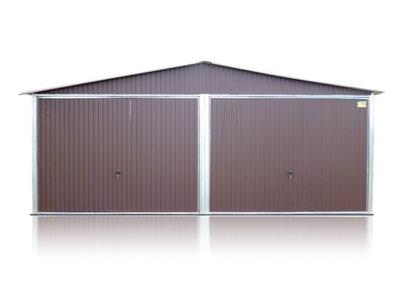 гараж железный instagram 6x6m с остроконечной крышей