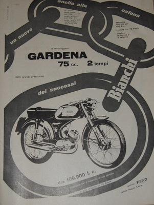 GARDENA BIANCHI 75 CC. 1959.