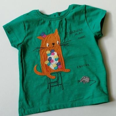 NEXT bluzeczka kr. rękaw KOTEK r. 80