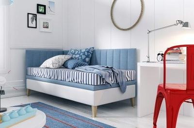 Łóżko młodzieżowe 90x200 INTARO 9 z osłoną boczną
