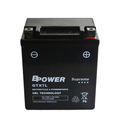 BPower Supreme GEL GTX7L 12V 6Ah 110A YTX7L-BS