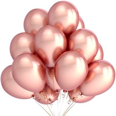 Металлические шары Rose Gold свадьба Party Большие 25шт