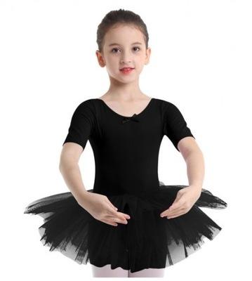 C2082XL* Czarna Sukienka Tutu Balet Taniec 110/116