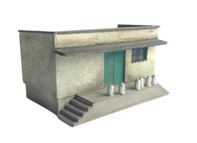 H0 - Skup mleka budynek magazyn model 1:87