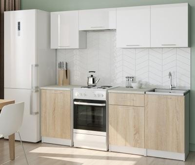 МЕБЕЛЬ Кухонные АДЕЛЬ Белый блеск /сонома ARDSEL