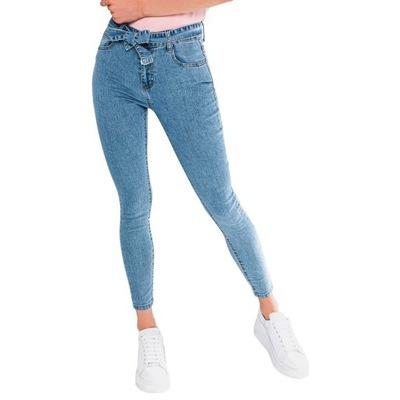 Spodnie damskie jeansowe 076PLR niebieskie 40