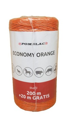 Linka splotka Economy Orange 200m pastuch