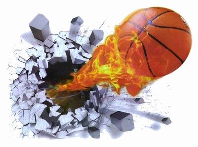 Samolepky na stenu 3D Basketbalová lopta
