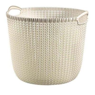 Curver Knit kosz koszyk okrągły 30l biały Kremowy
