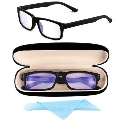 Okulary DUE Korekcyjne Blue Control Minusy + Etui