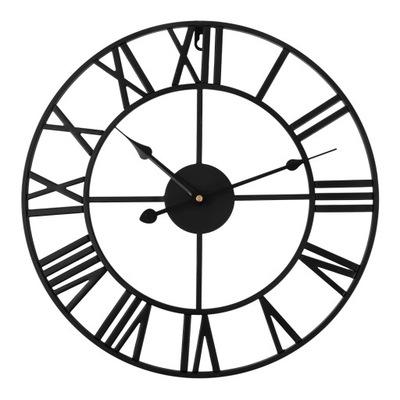 БОЛЬШОЙ часы металлический instagram 50 Черный НА СТЕНУ Z2