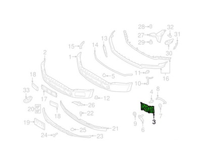 КРЕПЛЕНИЕ БАМПЕРА FORD F-150 15- JL3Z17B984A