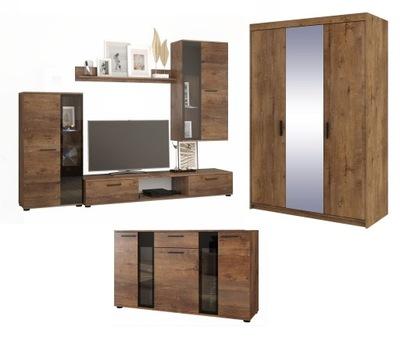 Стенка + Комод ОСКАР + шкаф 3D зеркало