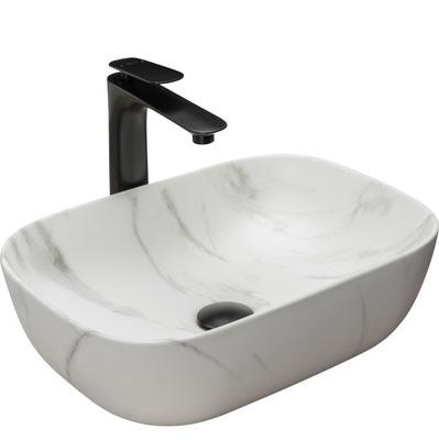 Keramické umývadlo BELINDA MARMUR STONE MAT