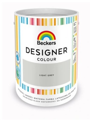 Farba Lateksowa Beckers Designer LIGHT GREY 5L