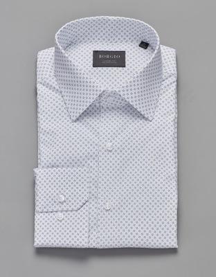 koszula biała Borgio bawełna regular 176/182 42