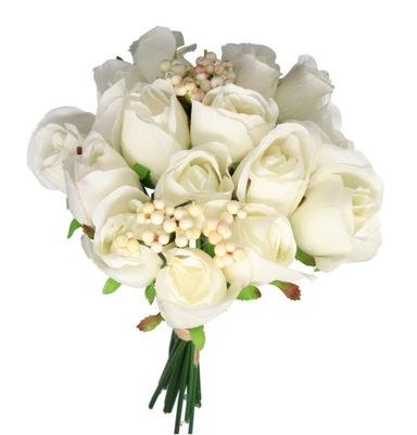 роза розочки БУКЕТ ГУСТОЙ искусственные цветы 35СМ 20GAŁ