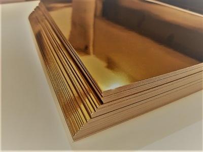 Papier ozdobny GOLD złote lustro 300g A4 10ark