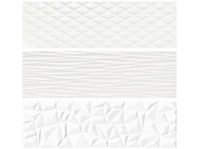 плитки белое 3D структурные ВЫПУКЛОЙ DUNE 90x30