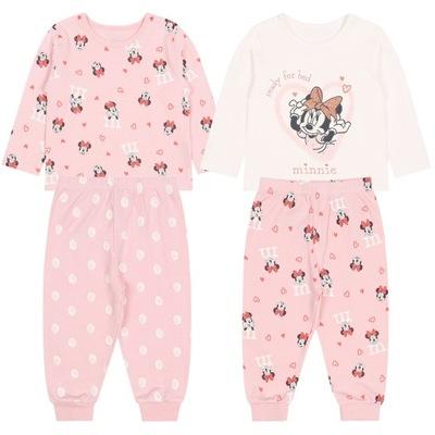 2x dwuczęściowa, bawełniana piżamka Myszka Mini