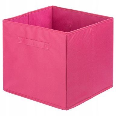 Różowe Pudełko Tekstylne Pojemnik Organizer 30l