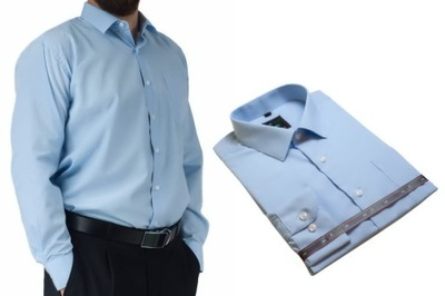 4041 Wizytowa Koszula męska TURKUSOWA 23 kolory  O1Spi