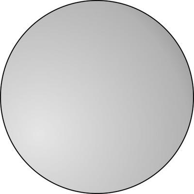 Okrúhle podkrovné nástenné zrkadlo v čiernom ráme, 100 cm