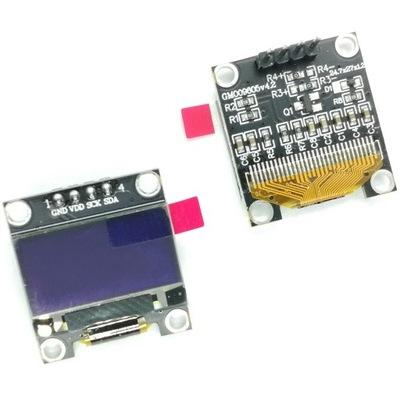 Wyświetlacz OLED 0,96 128x64 Żółty I2C Yellow SSD